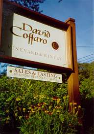 David Coffaro Winery Sign